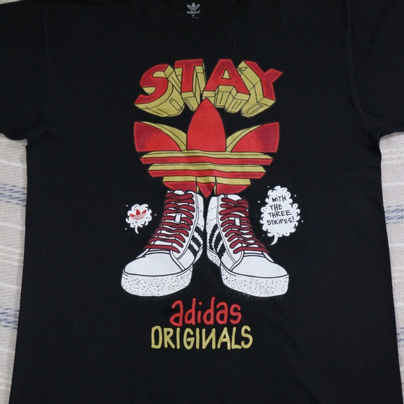 1fef8d128 adidas Shirts | Rare Stay Fly Originals Graphic Tee Tshirt | Poshmark